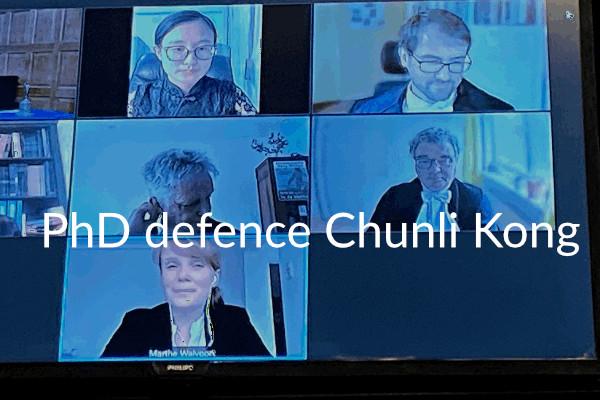 PhD defence Chunli Kong